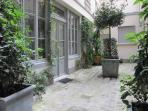 Courtyard approaching your studio