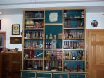 library in Wildlife/Indian room