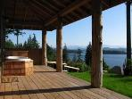 2-person, fresh water soaker tub on the veranda - enjoyable in all seasons