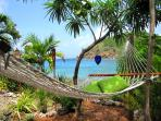 Drift away to sleep in our oceanfront hammock