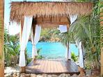 bali massage hut with a view!