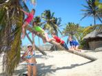 An American teacher lives on Anguilla and can be hired to entertain your children at our Kids\' Club.