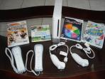 Wii Console with controllers and Games