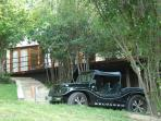 Beach Buggy in front of villa, Pipa Brazil