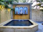 Our 9' x 12' dipping pool & outdoor shower area