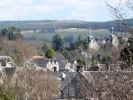 Elmwood House with our distinctive 3 peaks from the railway station. We can collect you if you arrive by train.