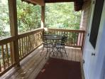 The porch is the perfect place to take in the fall leaves or have a cookout!