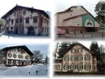 Some houses in Oberammergau