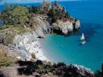 Gorgeous secluded beaches at Crozon peninsula