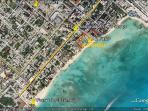 Aerial View of Playa Del Carmen and El Faro Condo