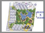 Site Plan: The condo is pictured here second closest to the ocean!