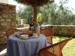 Enjoy your self made breakfast in your private Garden
