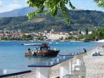 Seaside coffee bar with wonderfull view to Longos beach, 350 m from Harmony