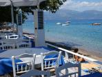 Seaside taverna in Longos, 250 m from Harmony