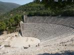 The famous theater of Epidaurus, 1-day excersion from Harmony