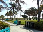 walkway to beach, walking path and playground
