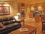 Open floor plan perfect for entertaining while you cook in the gourmet kitchen.