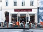 1 minute walk: traditional Cafe Markusplatz on Tuchlauben