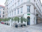 30 seconds walk: the very good Ella's restaurant on the Judenplatz