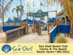 The Seashell beachfront club...within walking distance