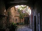 Agde old town scene