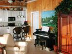 The Living Area has a very nice Kauai digital piano.