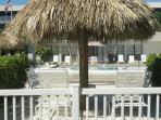 Enjoying the pool area