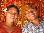 Your hosts, Putri and Wayan...6 years ago! we have enjoyed hundreds of guests since 2009!