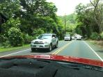 Kamehameha Highway to the house, beautiful drive