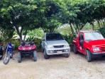 Rental vehicles on site or our guests.