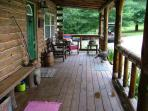 Our large covered front porch faces the sunset.  A wonderful place to gather and enjoy.