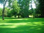 Enjoy the Manicured grounds. Smooth and safe for Elderly or Toddlers to walk and play.