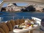 Gourmet Lunch on your Private Yacht!