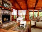 Laurelwood Falls Cabin-Living & Dining Area