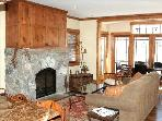 Living room with fire place, HD TV, surround sound, views, great gathering space