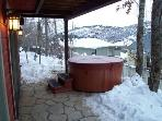 large private hot tub
