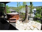 large private hot tub and deck