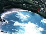 Aerial view of location of Hana Oceanfront Cottages