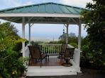 Gazebo overlooking ocean & harbor
