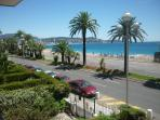 Beautiful view on the 'Baie des Anges' from the apartment