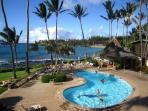 Enjoy the Oceanfront Pool area, try the macnut pancakes at the Gazebo Restaurant