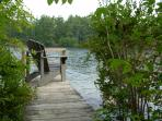 One of three docks - this small one is perfect for loon watching