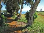 Start of trail to beach is close to front door