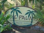 Palms sign at entrance