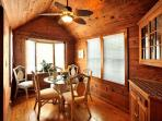 Unique Pine Paneling - Including the Ceiling in the Dining Room Which Features a Lovely Ceiling Fan