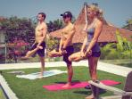Yoga on the rooftop garden