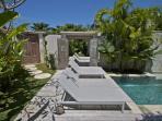 Pool deck with connecting doors to make 4 bedroom villa