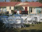 Reception set up on our property