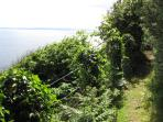 Footpath along the clifftop overlooking the Moray Firth to the South