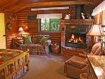 The little log cabin, the Honeysuckle, has a unique  and cozy magical ambience.